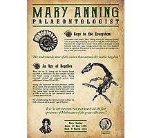 Mary Anning: Palaeontologist Photographic Print