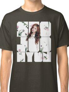 Girls' Generation (SNSD) Seohyun Flower Typography Classic T-Shirt