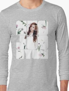 Girls' Generation (SNSD) Seohyun Flower Typography Long Sleeve T-Shirt