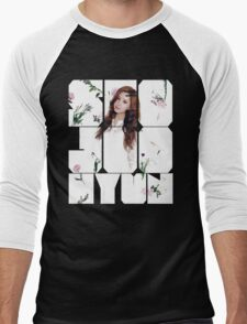 Girls' Generation (SNSD) Seohyun Flower Typography Men's Baseball ¾ T-Shirt