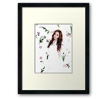 Girls' Generation (SNSD) Seohyun Flower Typography Framed Print