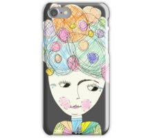 Madame Moonage - a tribute to David Bowie (charcoal) iPhone Case/Skin