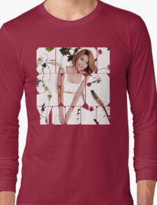 Girls' Generation (SNSD) Sooyoung Flower Typography Long Sleeve T-Shirt