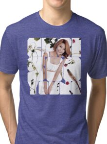 Girls' Generation (SNSD) Sooyoung Flower Typography Tri-blend T-Shirt