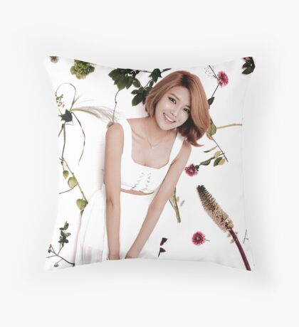 Girls' Generation (SNSD) Sooyoung Flower Typography Throw Pillow