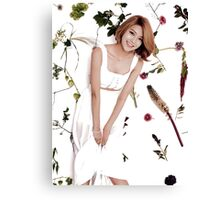 Girls' Generation (SNSD) Sooyoung Flower Typography Canvas Print