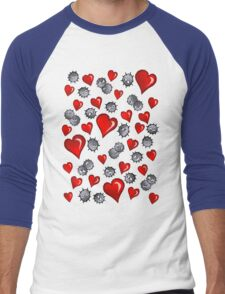 Hearts for Soot Sprites Men's Baseball ¾ T-Shirt