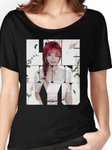 Girls' Generation (SNSD) Sunny Flower Typography Women's Relaxed Fit T-Shirt