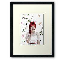 Girls' Generation (SNSD) Sunny Flower Typography Framed Print