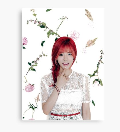 Girls' Generation (SNSD) Sunny Flower Typography Canvas Print
