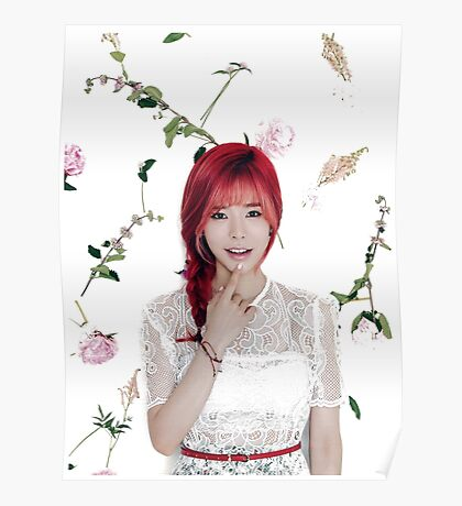 Girls' Generation (SNSD) Sunny Flower Typography Poster