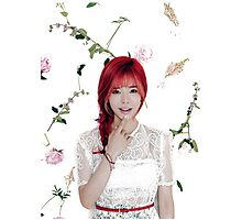 Girls' Generation (SNSD) Sunny Flower Typography Photographic Print