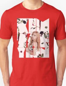 Girls' Generation (SNSD) Taeyeon Flower Typography Unisex T-Shirt
