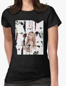 Girls' Generation (SNSD) Taeyeon Flower Typography Womens Fitted T-Shirt