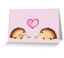 Hedgehugs and Kisses Greeting Card