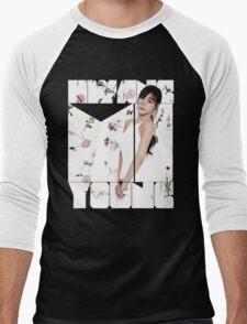 Girls' Generation (SNSD) Tiffany Flower Typography Men's Baseball ¾ T-Shirt