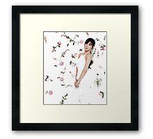 Girls' Generation (SNSD) Tiffany Flower Typography Framed Print