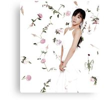 Girls' Generation (SNSD) Tiffany Flower Typography Canvas Print