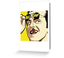 Shining Sunglasses Greeting Card
