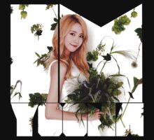 Girls' Generation (SNSD) Yoona Flower Typography by ikpopstore