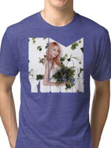 Girls' Generation (SNSD) Yoona Flower Typography Tri-blend T-Shirt