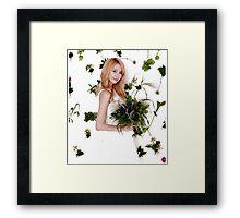 Girls' Generation (SNSD) Yoona Flower Typography Framed Print