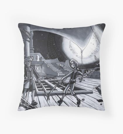Guybrush Threepwood, a mighty pirate! Throw Pillow