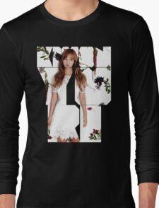 Girls' Generation (SNSD) Yuri Flower Typography Long Sleeve T-Shirt