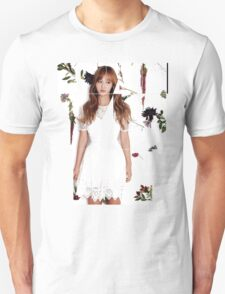 Girls' Generation (SNSD) Yuri Flower Typography T-Shirt