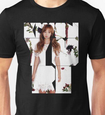 Girls' Generation (SNSD) Yuri Flower Typography Unisex T-Shirt