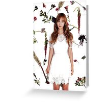 Girls' Generation (SNSD) Yuri Flower Typography Greeting Card