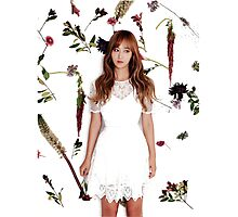 Girls' Generation (SNSD) Yuri Flower Typography Photographic Print