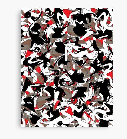 wasCrazy.camo Canvas Print