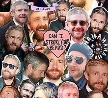 martin freeman beard collage by chimpsinsocks