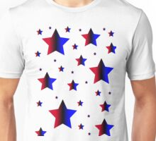 Red and Blue Stars Unisex T-Shirt