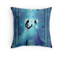 Silhouette Anna and Elsa Throw Pillow