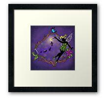Silhouette Tinkerbell Framed Print