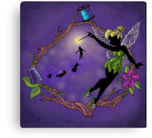 Silhouette Tinkerbell Canvas Print