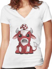 Mooshi Women's Fitted V-Neck T-Shirt