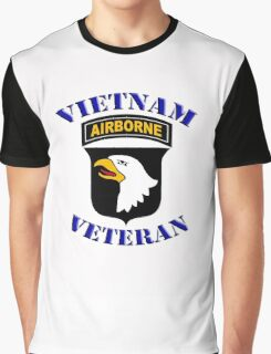 101st Airborne Vietnam Veteran -  iPad Case Graphic T-Shirt