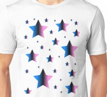 Pink and Blue Stars Unisex T-Shirt