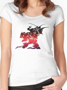 Final Fantasy 6 logo Women's Fitted Scoop T-Shirt