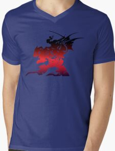 Final Fantasy 6 logo Mens V-Neck T-Shirt