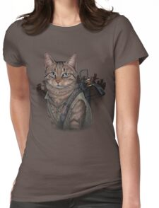 Daryl Dixon Cat Womens Fitted T-Shirt