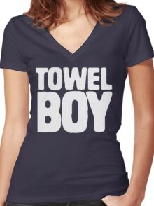 TOWEL BOY Women's Fitted V-Neck T-Shirt