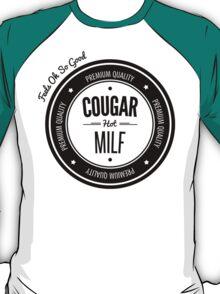 Vintage Retro Cougar Hot Milf T-shirt T-Shirt