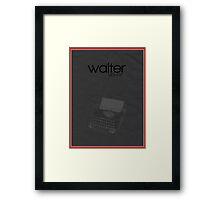 Fringe minimalist poster, Walter Bishop (alternate universe) Framed Print