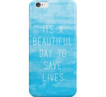 Grey's Anatomy McDreamy Quote III iPhone Case/Skin