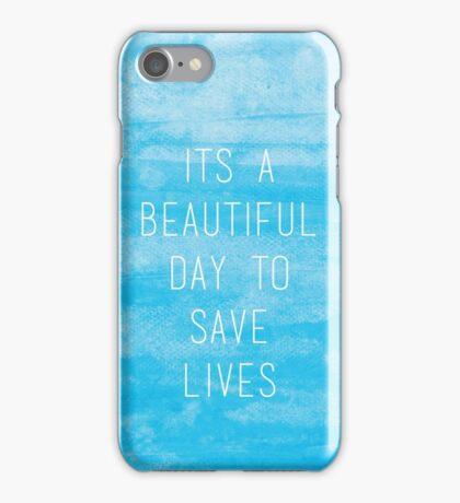 Grey's Anatomy McDreamy Quote III iPhone Case/Skin