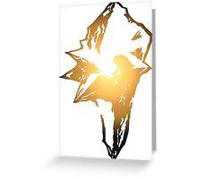 Final Fantasy 9 logo Greeting Card